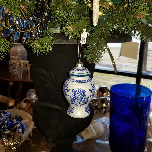 Blue and White Ginger Jar Ornament