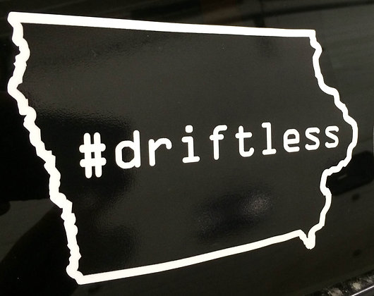 Iowa #Driftless Decal
