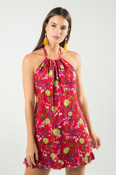 Alma Open Back Mini Dress
