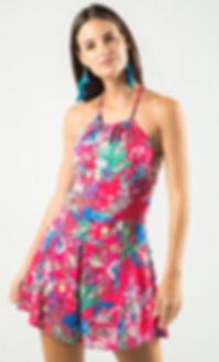 Alma Spring 2019 Collection, Floral Romper Wrap Romper, Boho, Pink