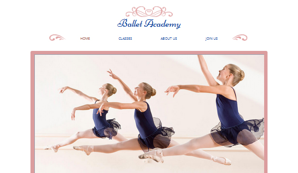 Arenaer website templates – Ballettstudio