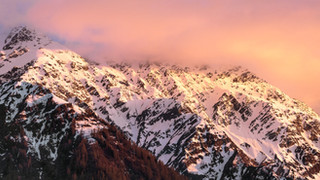 Sunset in the Chamonix Valley