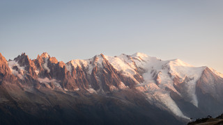 Sunset seen from Lacs des Chesery