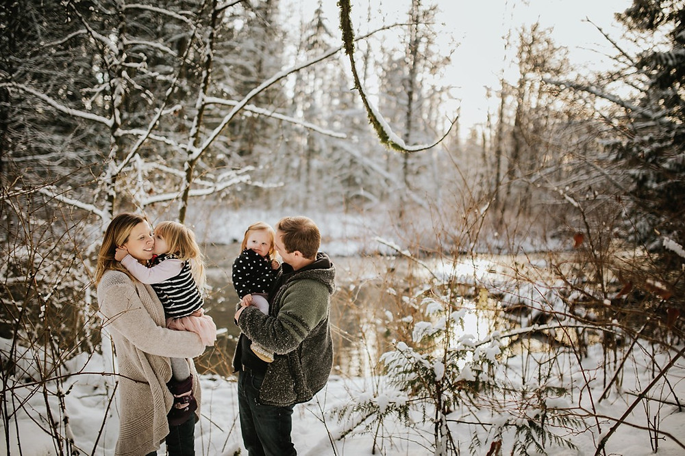 winter family photographs