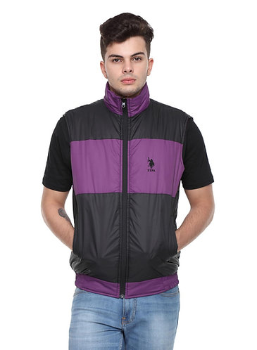 US Polo Reversible Jacket (Purple-Black)