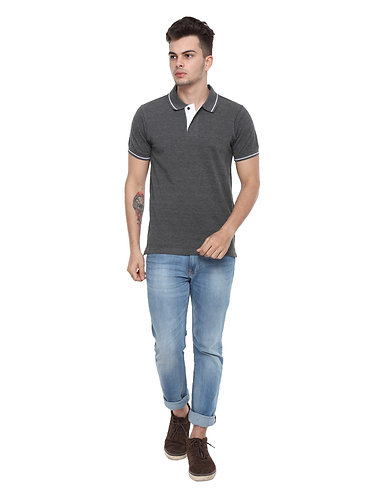 Ruggers Charcoal Grey Tshirt with White tipping