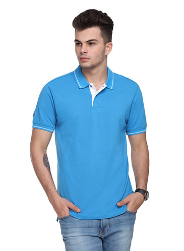 Ruggers Aqua Blue Tshirt with White tipping