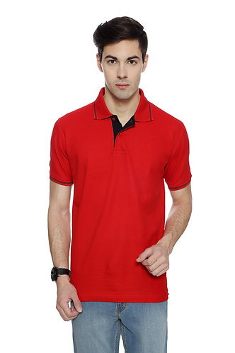 Flying Machine Red Cotton Tshirt