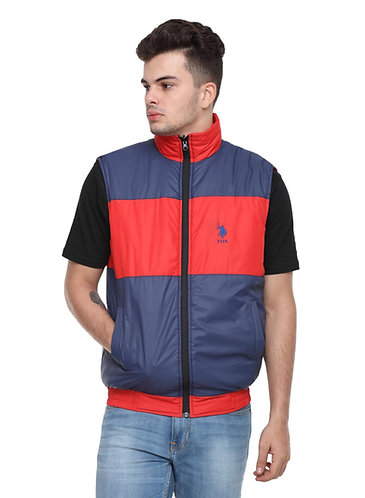 US Polo Reversible Jacket (Red-Navy Blue)