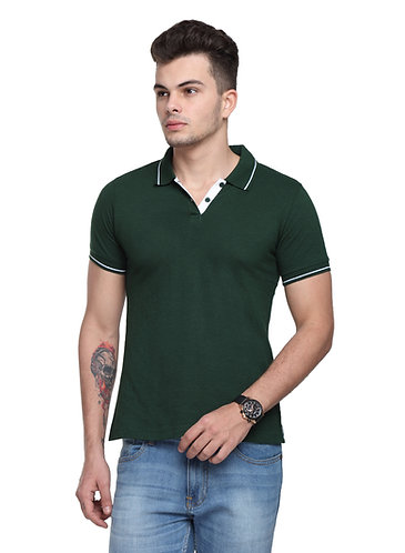 Ruggers Bottle Green Tshirt with White tipping