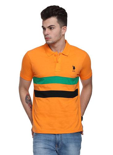 USPA Cut & Sew Orange Combo Tshirt