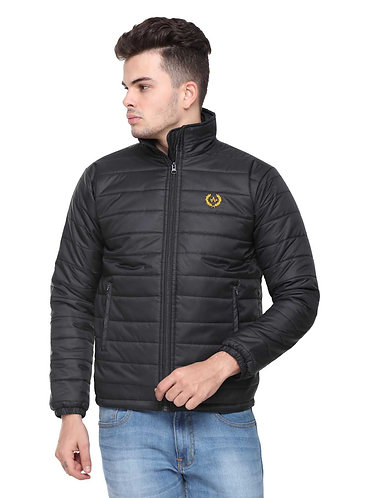 Arrow Quilted Black Jacket