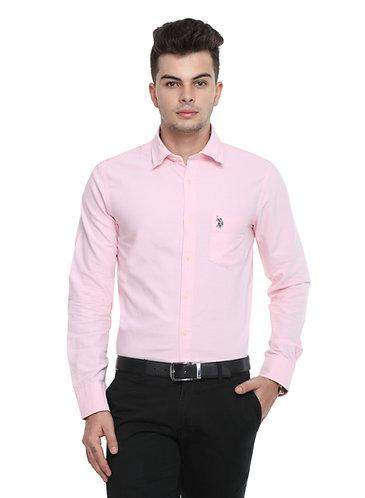 USPA Light Pink Semi Formal Shirt