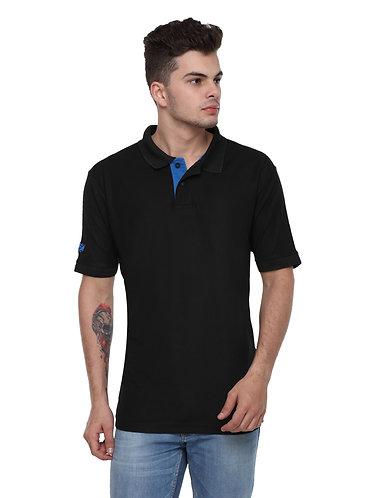 Flying Machine Black Polyester Tshirt