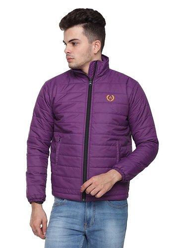 Arrow Quilted Purple Jacket