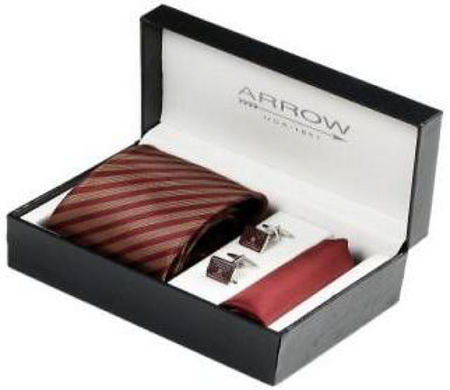 Arrow Tie and Cufflink Set