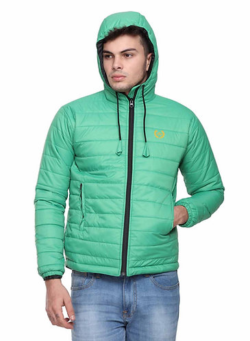 Arrow Quilted & Hooded Green Jacket