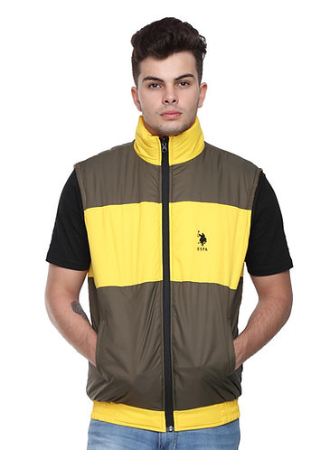 US Polo Reversible Jacket (Yellow-Brown)
