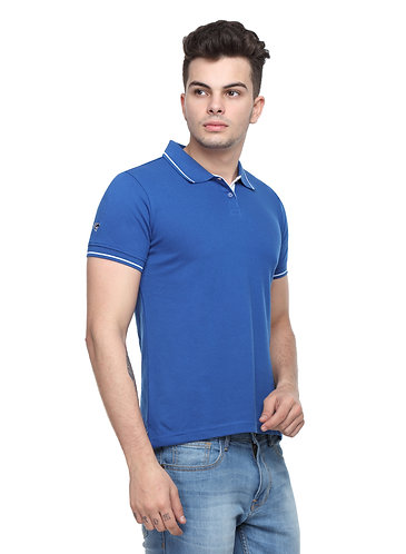 Ruggers Royal Blue Tshirt with White tipping