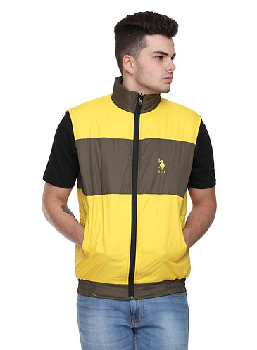 US Polo Reversible Jacket (Brown-Yellow)