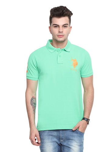 USPA Men's Pista Green Tshirt