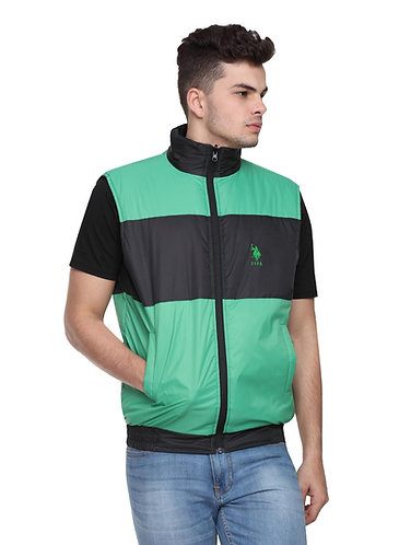 US Polo Sleeveless Jacket (Green-Black)
