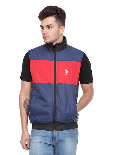US Polo Reversible Jacket (Navy Blue-Black-Red)