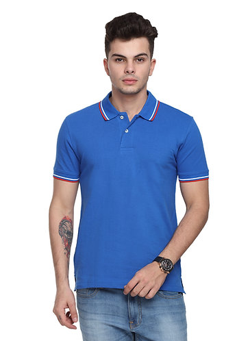 Arrow Collared Royal Blue Tshirt with tipping