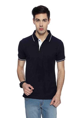 Flying Machine Navy Blue Cotton Tshirt
