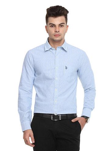 USPA Semi Formal Shirt with Blue Stripes