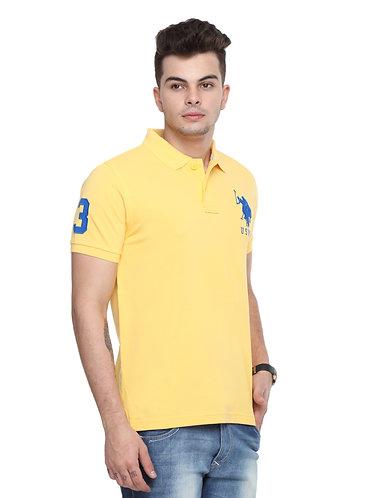 USPA Men's Light Yellow Tshirt
