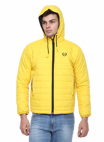 Arrow Quilted & Hooded Yellow Jacket