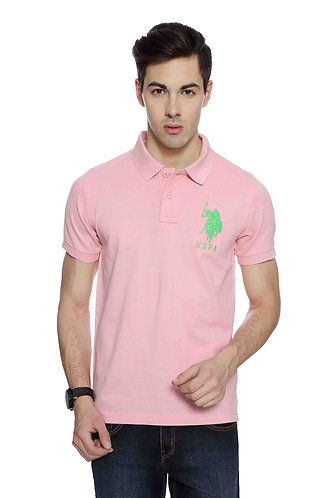 USPA Men's Light Pink Tshirt