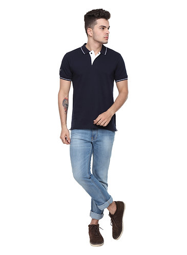 Ruggers Navy Blue Tshirt with White tipping
