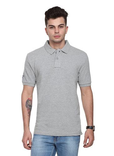 USPA Men's/Women's Grey Melange Tshirt