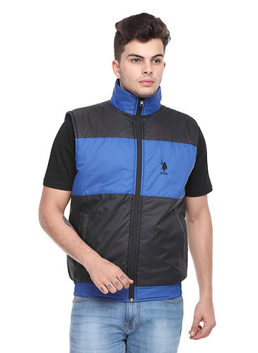 US Polo Reversible Jacket (Royal Blue-Black)