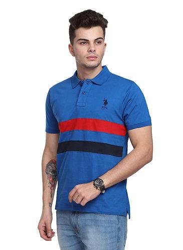 USPA Cut & Sew Royal Blue Combo Tshirt