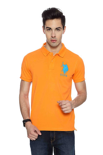 USPA Men's Dark Orange Tshirt