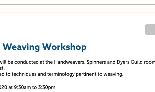 4 shaft loom weaving workshop - sold out