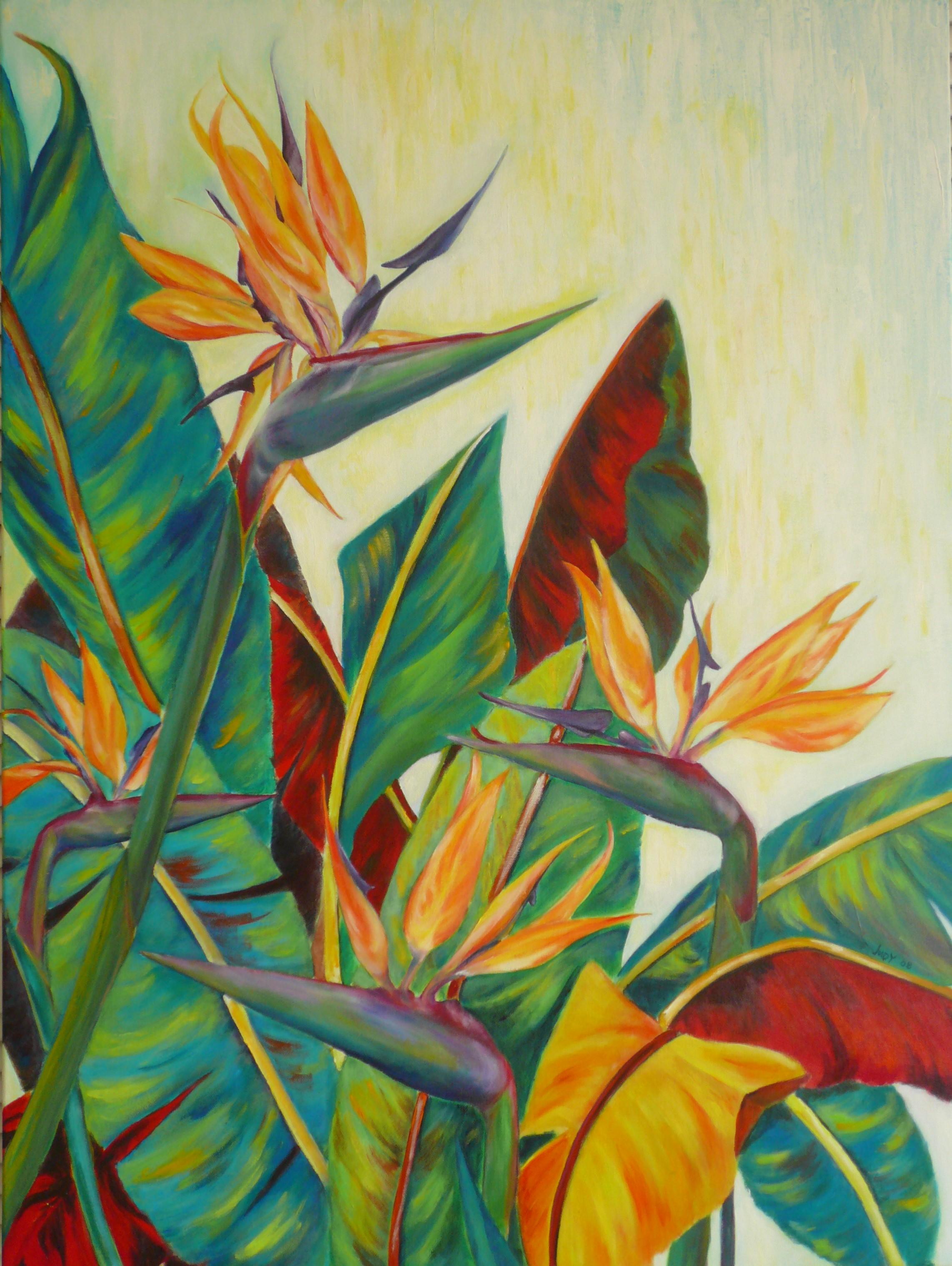 Paradise Bird 102 x 76cm