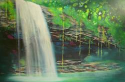 The Cascade   –簾飛瀑 61 x 92cm