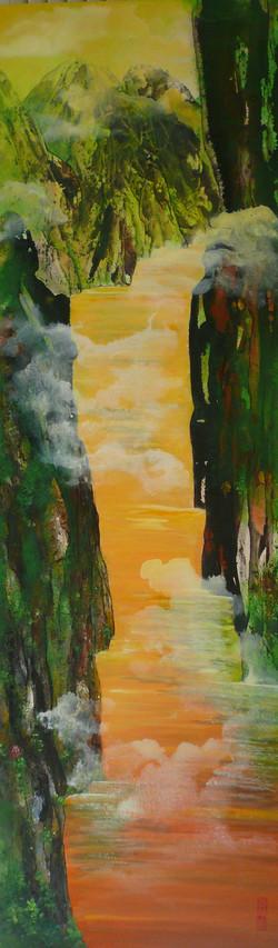 The Three Gorges 132 x 41cm