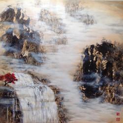 Yellow Mountain 122 x 122cm