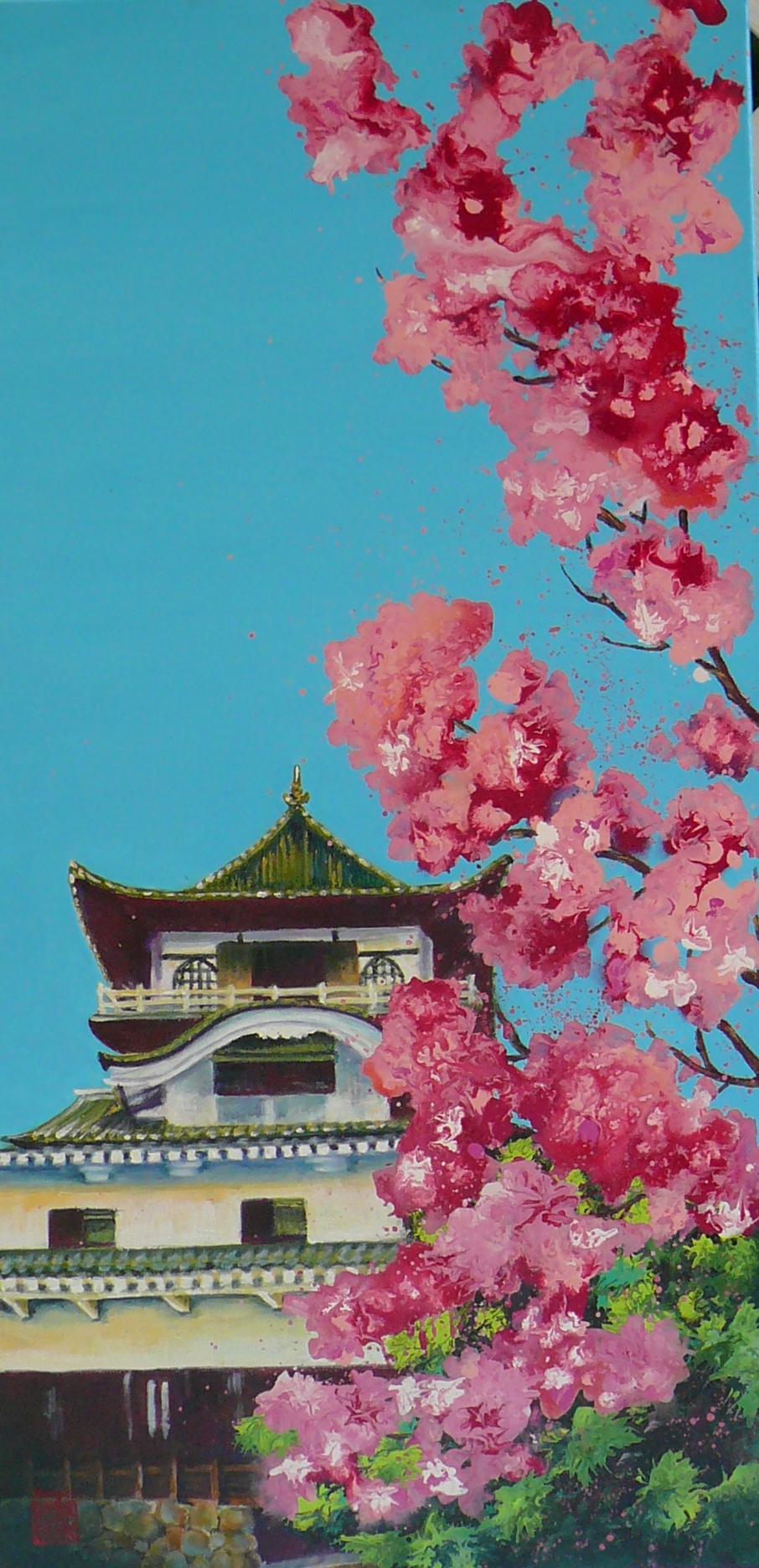 Inuyama Castle in April 92 x 46cm