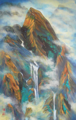 Dreaming of Mt. Huang,Yellow 122 x 91