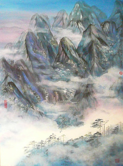 Dreaming of Mt. Huang, Blue 122 x 91