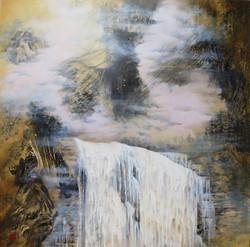Shifan Waterfall 122 x 122cm