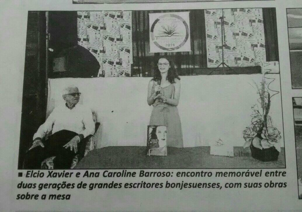 Recorte do jornal O Norte Fluminense