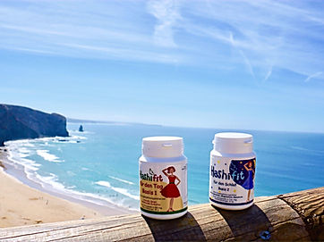 Hashifit Basis 1 für den Tagund Basis 2 für den Schlaf am Strand mit Selen und Melatonin Hashimoto Vitamine, Schilddrüsenunterfunktion