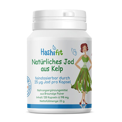 Hashifit natürliches Jod aus Bio Kelp feindosierbar 25µg je Mini Kapsel ideal bei Hashimoto EAN-4260563129266